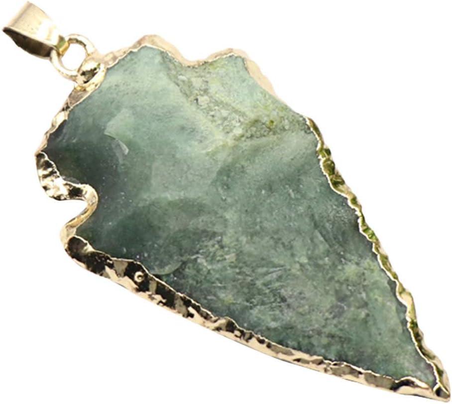 EXCEART Encanto de Cristal Verde Druzy Geoda Hielo Cuarzo Ágata Piedras Preciosas Naturales Chapadas Focales Colgantes Libertad Bajo Fianza Joyería Bohemia Accesorios