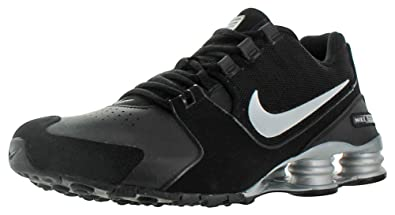 factory price b482c 34bbc NIKE Men s Shox Avenue Black Metallic Silver Ankle-High Running Shoe - 8M