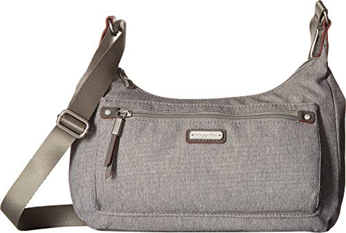 Baggallini Women's New Classic Out and About Bagg with RFID Phone Wristlet Stone One ()
