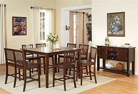 Amazoncom Counter Height Dining Table Kitchen Dining