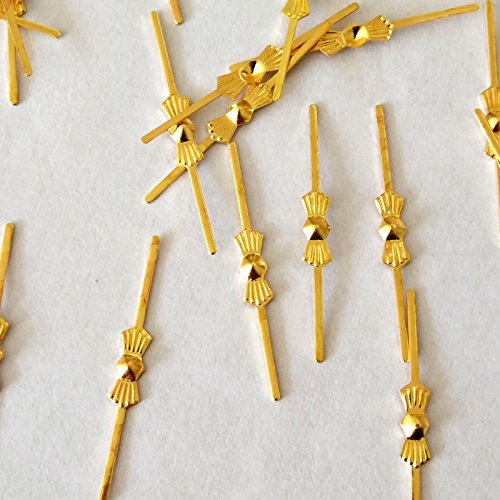 (Chandelier Connectors Clips Pins For Fastening Crystals Parts, Chandelier Replacements 300pcs ,33mm/ 37mm/45mm (45mm Gold))