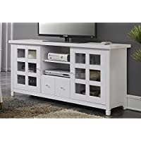 Convenience Concepts Newport Park Lane 60-Inch TV Stand, White