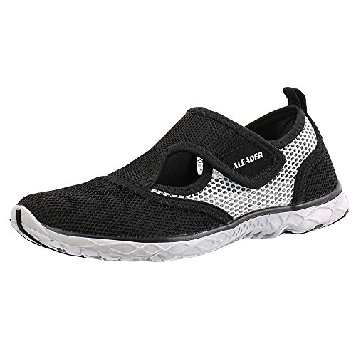 Aleader Men's Quick-dry Slip On Water Shoes Black/Gray 12 D(M) US