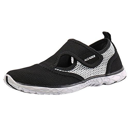 Aleader Men's Quick-dry Slip On Water Shoes Black/Gray 10.5 D(M) US