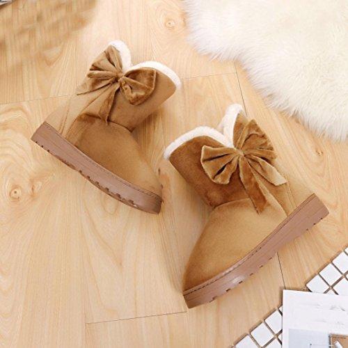 Invernali Calde Marrone Autunno con Stivali Donna BeautyTop Scarpe Donna Boots tacco Stivaletti 5vqPAZP