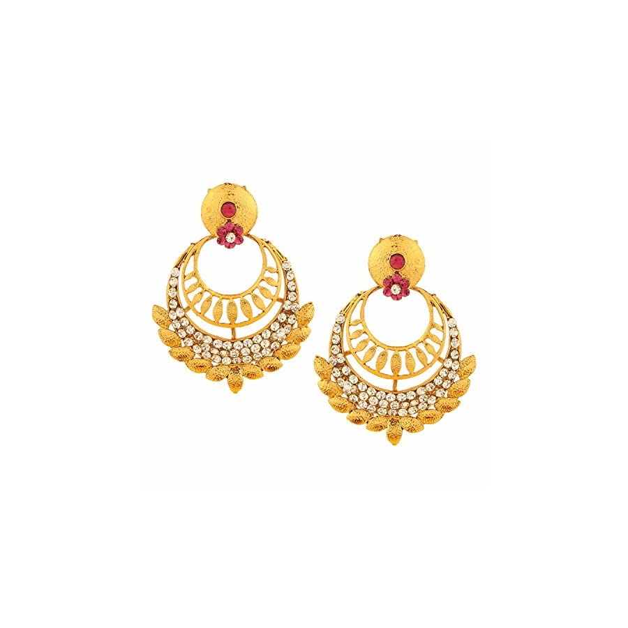 Efulgenz Indian Bollywood Bridal Designer Jewelry Oxidized Gold Plated Traditional Jhumka Jhumki Drop Dangle Earrings for Women and Girls