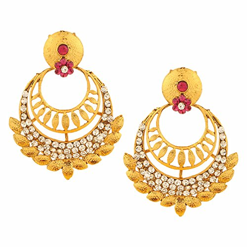 Efulgenz Indian Bollywood Bridal Designer Jewelry Oxidized Gold Plated Traditional Chandbali Dangle Drop Earrings for Women and Girls