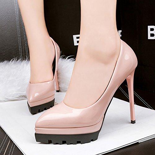 No Court High 66 Dress Town Women's Platform Shoes toe Heel Shoes pink Pink Pointed Pumps tqqvrTnp