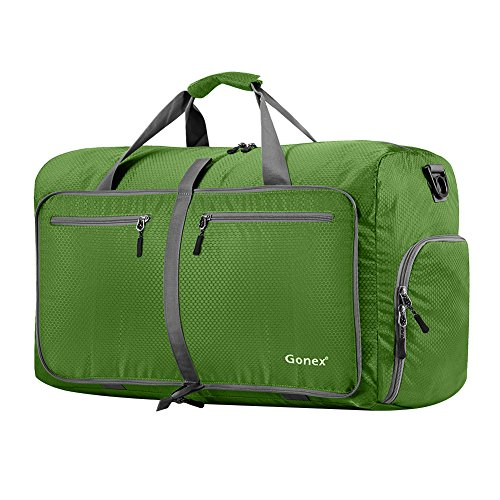 Gonex 60L Foldable Travel Duffel Bag Water & Tear Resistant, Green