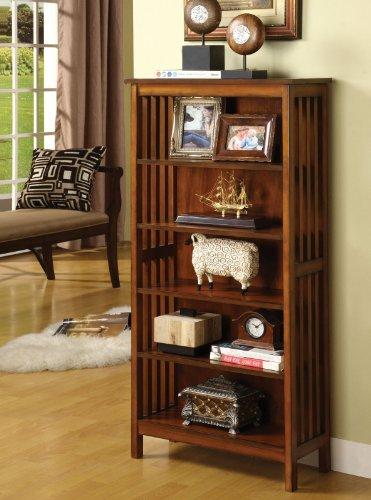 Wood Media Shelf Bookcase (48 Inch Wide Bookcase)