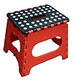 Jeronic Super Strong Folding Step Stool for Adults and Kids, Red Kitchen Stepping, Garden Step Stool, Holds up to 300...