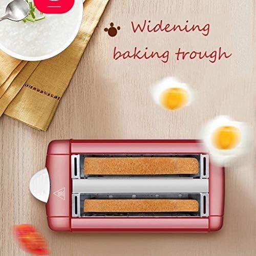 UNU_YAN Modern Eenvoud 2 Slices Broodrooster, RVS Volautomatische huishoudelijke multifunctionele broodbakautomaat brede sleuf 50 seconden Hot 7-Speed Dubbelzijdig Baking
