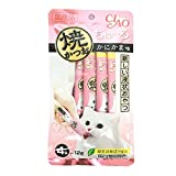 Cheap 4 Pcs X 12g. (Grilled tuna Flavor Crab) Ciao CAT Snack Liquid Cat Gosh Tutsis Kyun (Japan Cat Snack)