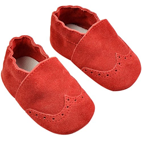 Fire Frog Baby Genuine Leather Shoes - Zapatos primeros pasos de piel auténtica para niño Red