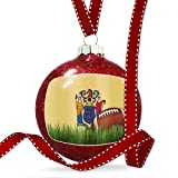 Christmas Decoration Football with Flag New Jersey region America (USA) Ornament