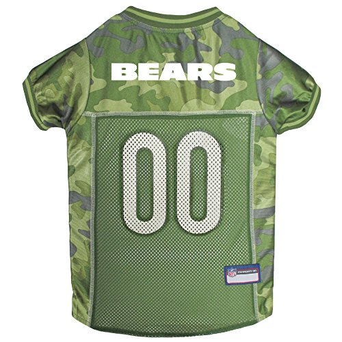 (NFL Chicago Bears Camouflage Dog Jersey, Small. - CAMO PET Jersey Available in 5 Sizes & 32 NFL Teams. Hunting Dog Shirt)