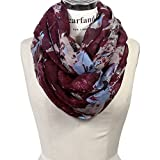 Scarfand's Mixed Color Oil Painting Infinity Scarf (BrushStroke Rose Plum)