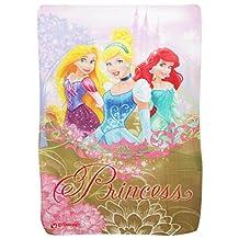 Disney Childrens Girls Princess Fleece Blanket (39in x 59in) (Multi Colored)