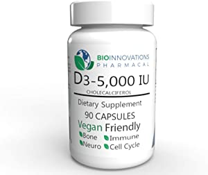 BioInnovations Pharmacal Vitamin D3-5000 IU (90 Veg Count)