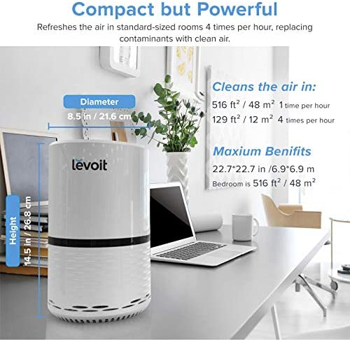 LEVOIT H13 True HEPA Filter Air Purifiers for Allergies and Pets, Smokers, Smoke, Dust, Mold, and Pollen, Cleaner for Bedroom, Large Room with Optional Night Light, LV-H132 516aLETbYaL