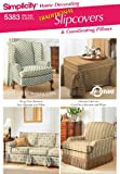 Simplicity Donna Lang Pattern 5383 Traditional Slipcovers & Coordinating Pillows