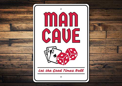 (Wini2342ckey Gamble Man Cave Card Cave Decor Poker Texas Holdem Decor Poker Gift Sign Poker Decor Room Decor Metal Sign Quality Metal)