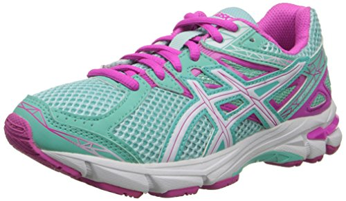 ASICS GT 1000 3 GS Running Shoe (Little Kid/Big Kid),Mint/White/Hot Pink,6.5 M US Big Kid by ASICS