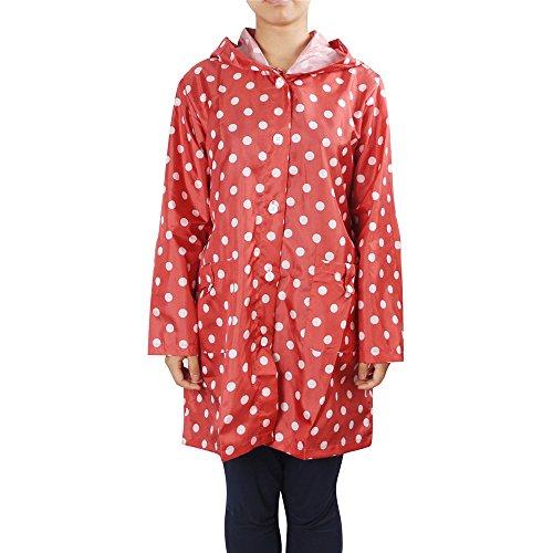 Egelbel Women Cute Polka Dot Raincoat