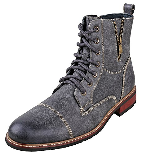 Ferro Aldo MFA-808561 Grey Mens Lace up Military Combat Work Desert Ankle Boot Size 11 by Ferro Aldo