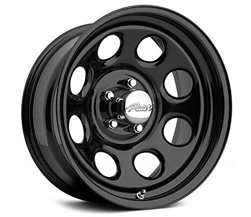 15 8 Lug Rims (Pacer 297B SOFT 8 BLACK Black Wheel (15x8