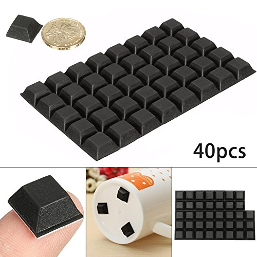 40Pcs Self-Adhesive Rubber Bumper Stop Non-slip Feet Door Buffer Pad For Home Funiture Accessories by LOCHI