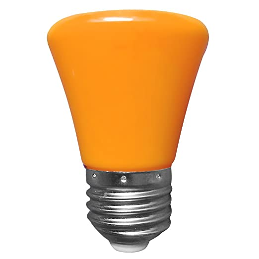 YouGer Mini 220V 1.5W E27 Lámpara de bombilla LED Lámpara de carcasa plana (Naranja