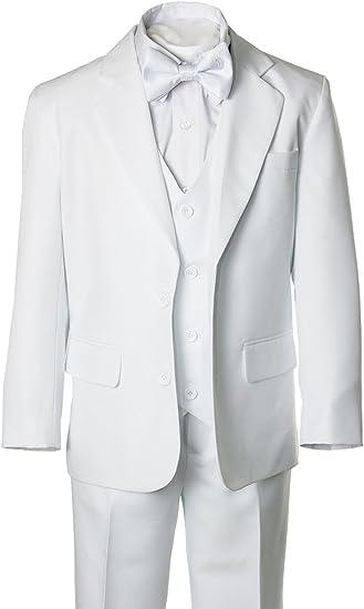 Amazon.com: Los niños traje blanco de lazo con cruz ...