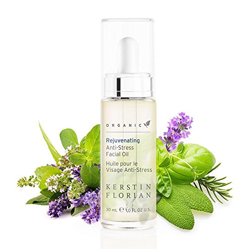 Kerstin Florian Organic Rejuvenating Anti-Stress Facial Oil, Restore Complexion with Certified Organic Oil Blend 30ml/1 fl oz