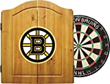 Imperial Officially Licensed NHL Merchandise: Dart Cabinet Set with Steel Tip Bristle Dartboard and Darts, Boston Bruins