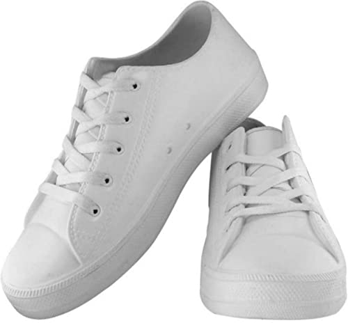 f1bab0d3fbdc Creation Garg Men s White Sneaker Shoes  Buy Online at Low Prices in India  - Amazon.in