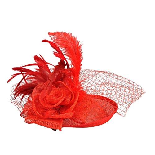 Zhuhaitf Hair Accessories Handmade Hemp Hats Linen Banquet Bridal Head Hair Beautiful for Pretty Ladies