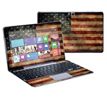 """Mightyskins Protective Skin Decal Cover for Samsung ATIV Smart PC Pro 500T Tablet & Keyboard with 11.6"""" screen wrap sticker skins Vintage Flag"""