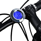 ICOCOPRO Bike Speedometer and Odometer Wireless - Flexible Round Shape,Waterproof Cycle Computer with LCD Backlight Display, Multi-function Bicycle Computer