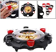 Electric Drinking Game Set Roulette Adult Party Casino Style (2 Balls and 6 Glasses) Gift