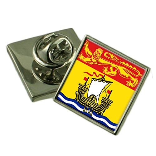 New Brunswick Flag Lapel Pin Badge 18mm Square Select Gifts - New Square Brunswick