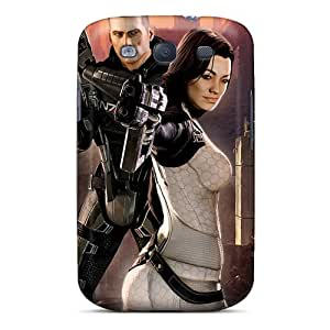New Premium Flip Case Cover Mass Effect Skin Case For Galaxy S3