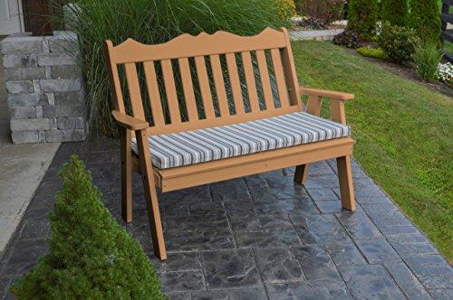 Furniture Barn USA Outdoor Poly 5 Foot Royal English Garden Bench - Cedar