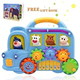 Baby Music Toys - Learning and Development Toddler Fun Musical Car Piano Keyboard Electronic Educational Toys with Lights, Sounds and Animals Set for Toddlers Gift(Random Color)