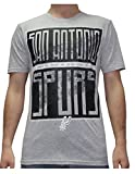 NBA Mens SAN ANTONIO SPURS: Athletic Short Sleeve T Shirt S Grey