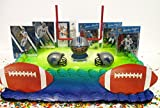 Detroit Lions Team Themed Football Birthday Cake Topper Set