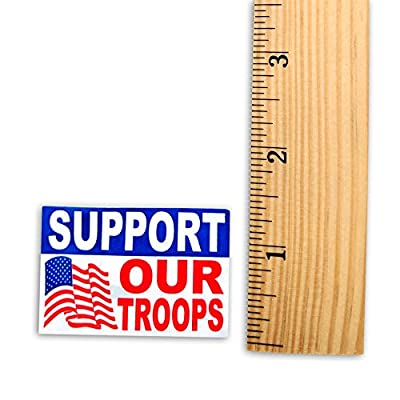 250 Support Our Troops American Flag Stickers (1 Roll of 250 Stickers): Automotive