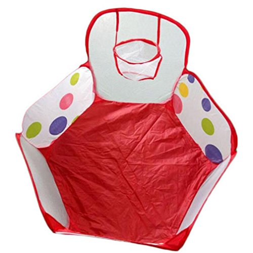[Kids Ball,JUNKE Pop up Hexagon Polka Dot Children Ball Play Pool Tent Carry Tote Toy+50 Balls] (Bouncy Ball Costume)