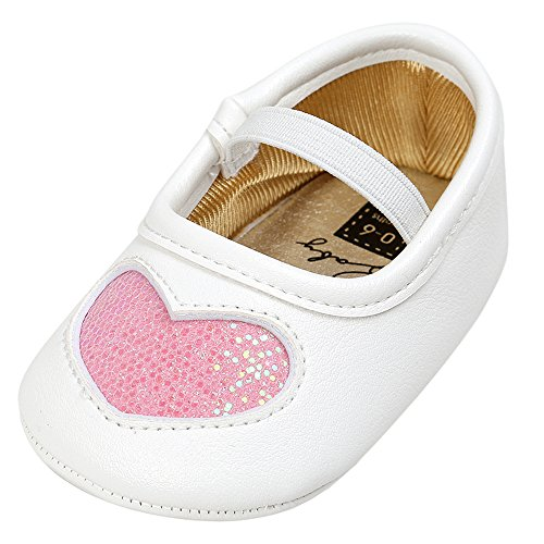 BABY STEPS Flower Ribbon Baby Girl Shoes (Pink) - 5