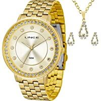 Kit Relógio Lince Feminino com Colar e Brincos Lrgh090lkv54c1kx